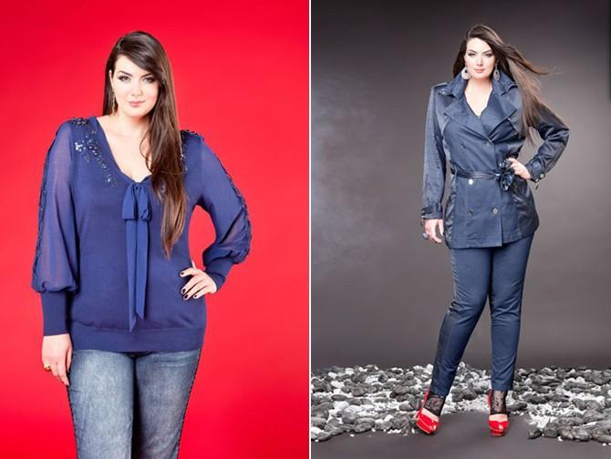 одежда для полных женщин осень-зима 2013
